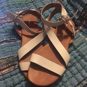 Franco sarto White strappy sandals